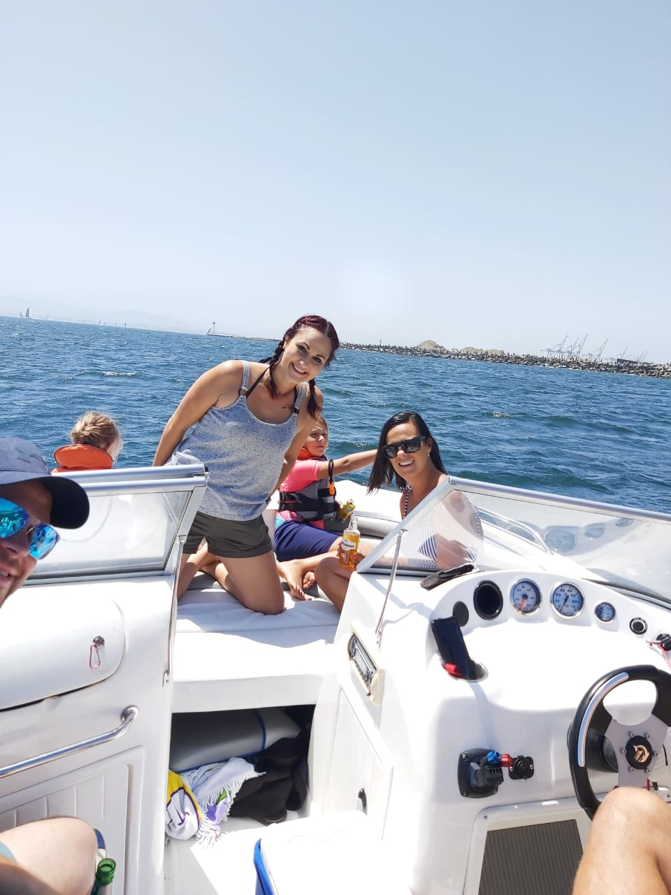 Family boat cruise in Cape Town