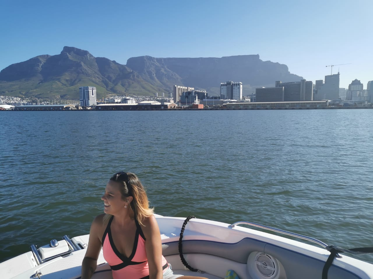 Boat Trip in Cape Town Harbor with Table Mountain in the background